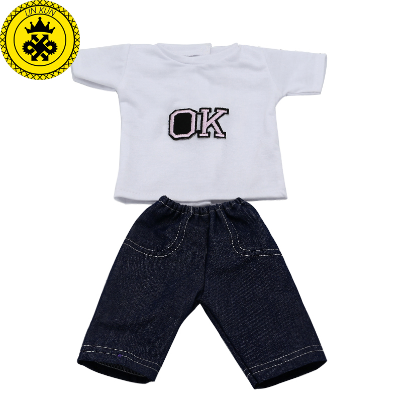 Doll Clothes and Accessories White t-shirt  Pants Skirt Fit 43cm Zapf Baby Born Doll and 18 inch Dolls American Girl Doll  576 baby born doll accessories kayak adventure set 18 inch american girl doll accessories let s go on an outdoor kayak adventure