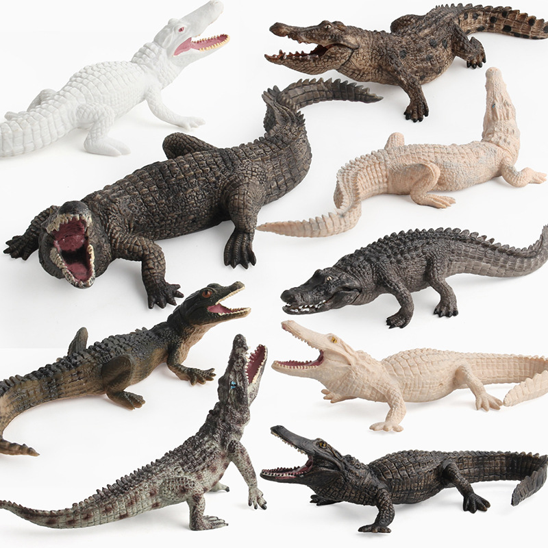 Realistic Wild Animal PVC Toy Model Figure Crocodile Random Color 1pc Kids Gift