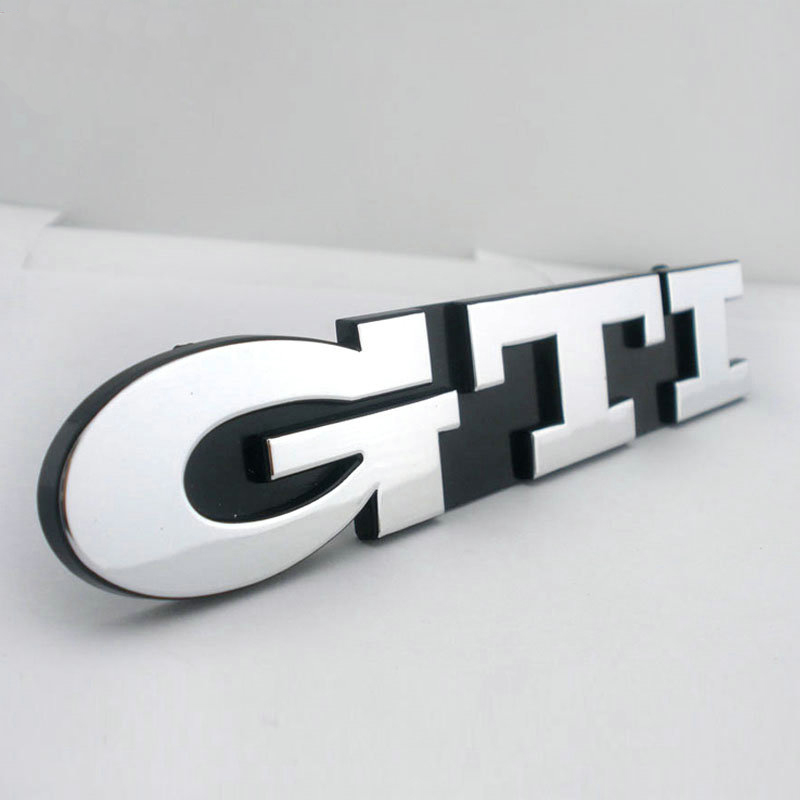 GOLF GTI MK3 Grill Chrome Auto Emblem for VW GOLF MK3 GTI Grille Car Auto Badge