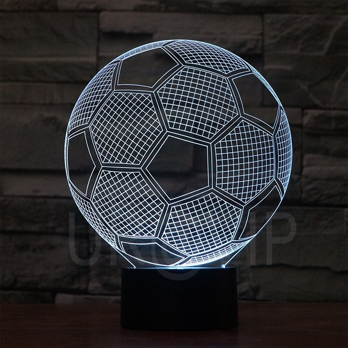 JC-2882 Amazing 3D Illusion led Table Lamp Night Light with football  shape (5)