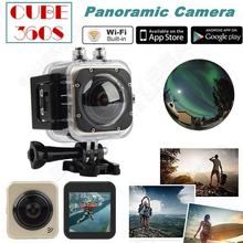 "Free shipping!Mini 360S VR Mode 360×180 Large Panoramic Camera 1.5"" Wifi Sports Action Camera"