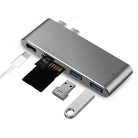 Charging Reading Card Hubs Dual USB 3 1 Type C To 2 USB 3 0 Hub