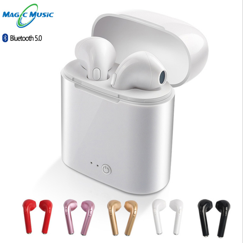 Magic Music I7s tws <font><b>5.0</b></font> wireless <font><b>bluetooth</b></font> <font><b>earphone</b></font> stereo earbud headset mic for iphone xiaomi all Smart phone <font><b>i9s</b></font> image