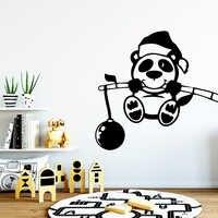 Мультяшная панда, настенная наклейка, наклейки на стену, ПВХ материал, для гостиной, детской комнаты, фон для стены, художественная наклейка