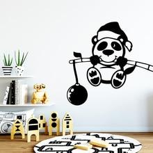 Cartoon panda Wall Art Decal Stickers Pvc Material Living Room Children Background