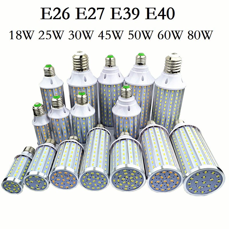 E27 E26 E39 E40 LED Lamp 5730SMD Corn Bulb Lights 18W 25W 30W 45W 50W 60W 80W Lampada Chandelier Candle Lighting Home Decoration smd5730 smd5630 best quality high brightness warehouse garden lamp store hotel office light 45w e26 e27 e39 e40 corn led bulb