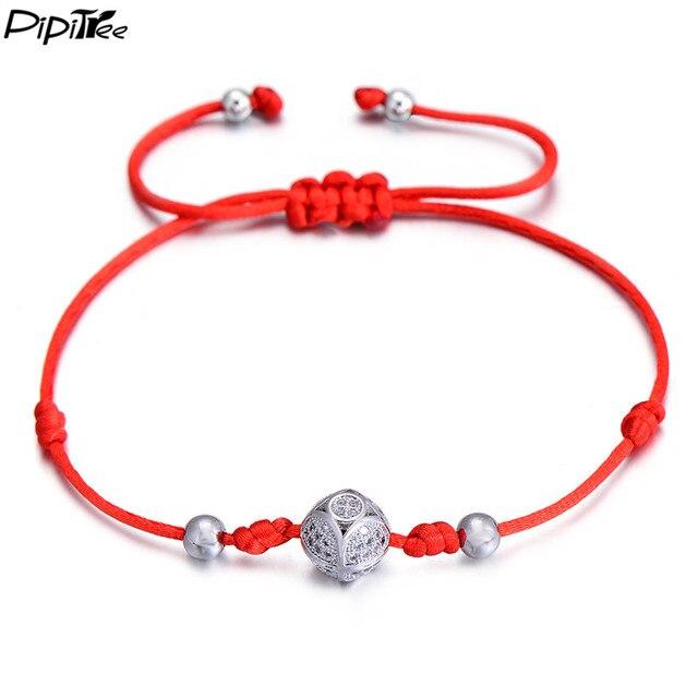 PiPitree Special CZ Crystal Ball Bracelet for Women Men Children ...