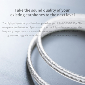 Image 3 - FIIO LC 2.5B LC 3.5B LC 4.4B MMCX Earphone Replacement cable 4 Strands of High Purity Silver Planted OCC Cable 1.2m