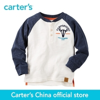 Carter's 1pcs baby children kids Long-Sleeve Colorblock Henley 225G578 ,sold by Carter's China official store
