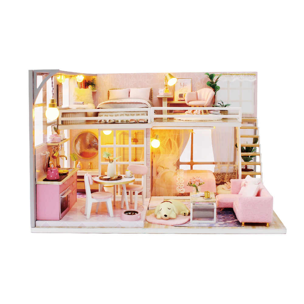 Detail Feedback Questions About Wooden Doll House Diy Miniature