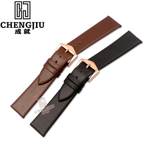 Genuine Leather Watchband For Calvin Klein Watches Top Brand Bracelet Belt Women Calfskin Leather Waterproof Watch Strap For Men