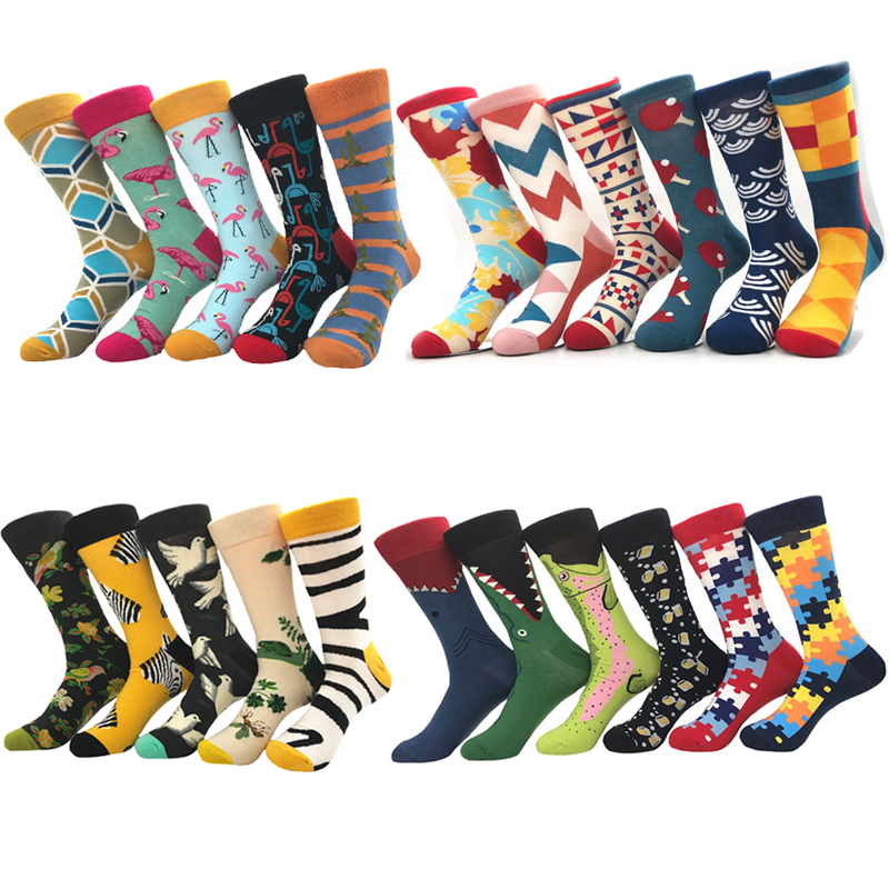 Harajuku Happy Men   socks   Funny Mens Sloth   Sock   Women animal alien chili Moustache sloths Novelty   Sock   combed cotton funny   Socks
