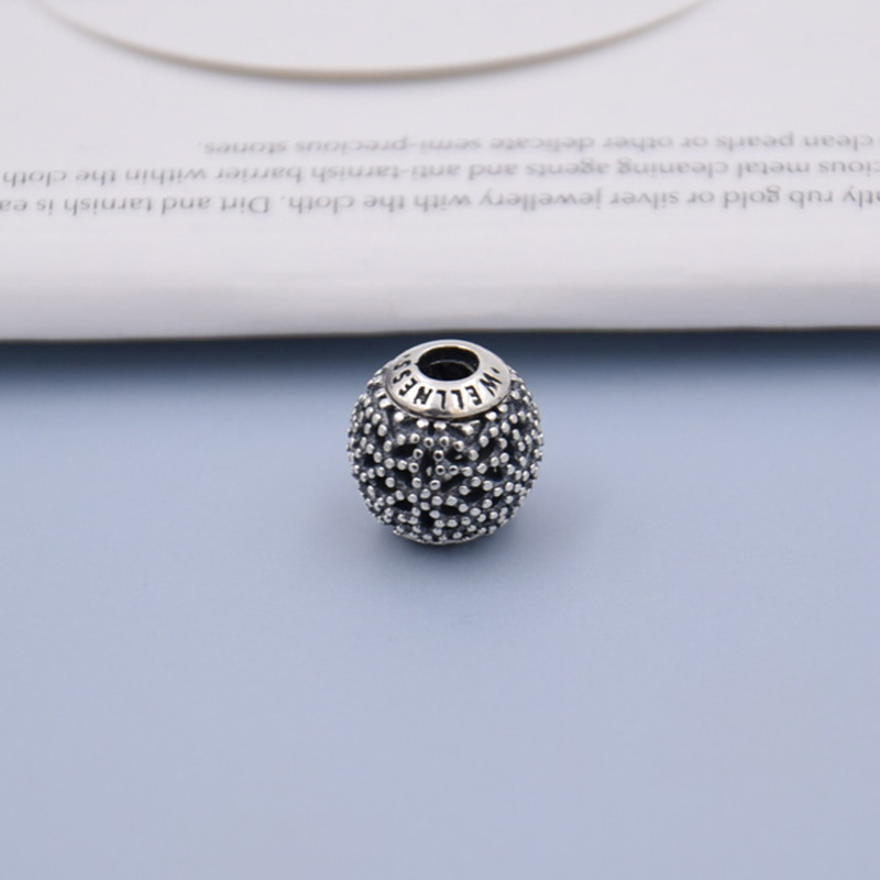 Vintage Openwork Wellness Beads Fit Pandora Essence COLLECTION Bracelet Bangle 925 Sterling Silver Charm Jewelry