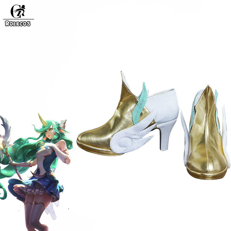 ROLECOS LOL Soraka Cosplay Shoes Star Guardian LOL Cosplay Shoes Game Magica