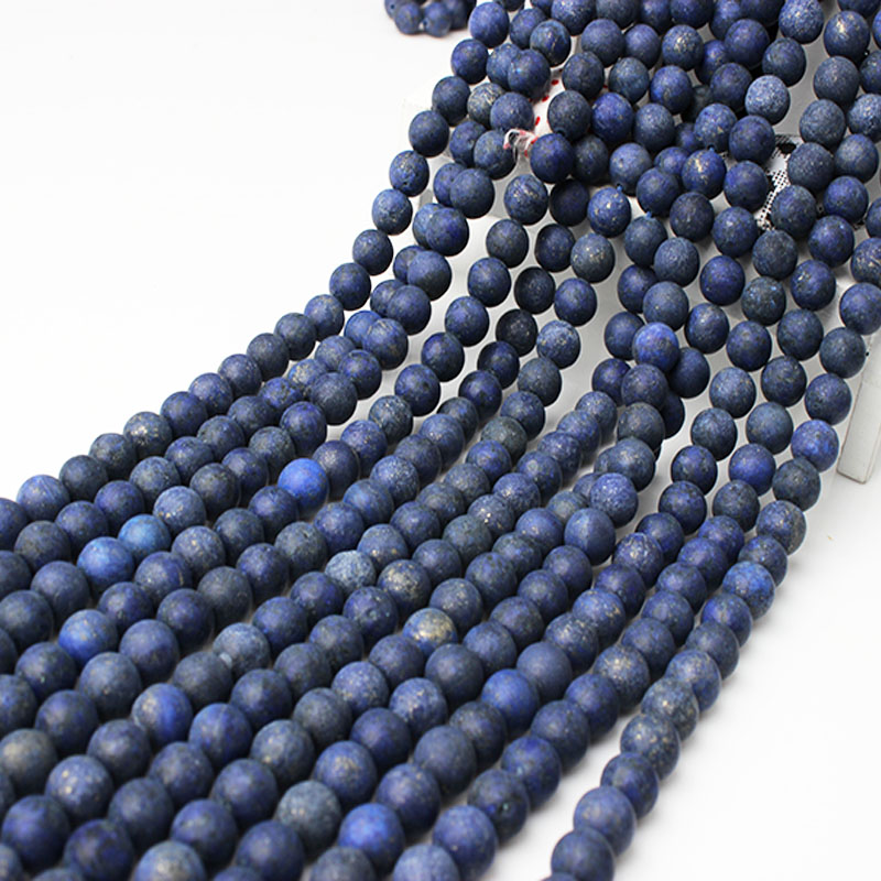 6 mm bleu égyptien Lazuli Lapis Gemstone Round Loose Beads 15/""