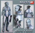 Modelo de Papel DIY Personagem de Mass Effect liara