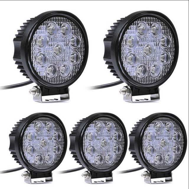 27W 4 inch LED Work Light 5D Flood Spot Led Beams Driving Lamp for Truck Boat Offroad Jeep ATV 4WD 12V 24V Fog Light image