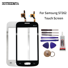 S7262 Screen For Samsung Galaxy Star Pro S7262 GT-S7262 S7260 GT-S7260 Touch Screen Digitizer Sensor Front Glass Panel With Tool цена и фото