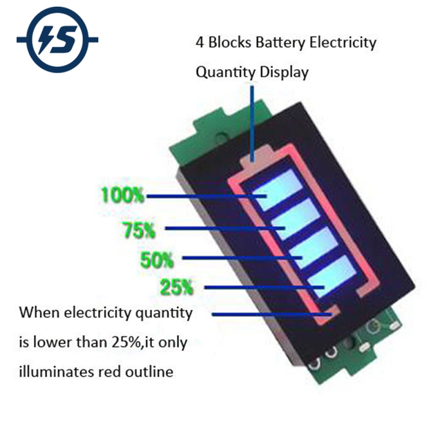 1S 2S 3S 4S 6S 7S Series Lithium Battery Capacity Indicator Module Display Electric Vehicle Battery Power Tester Li-po Li-ion 1