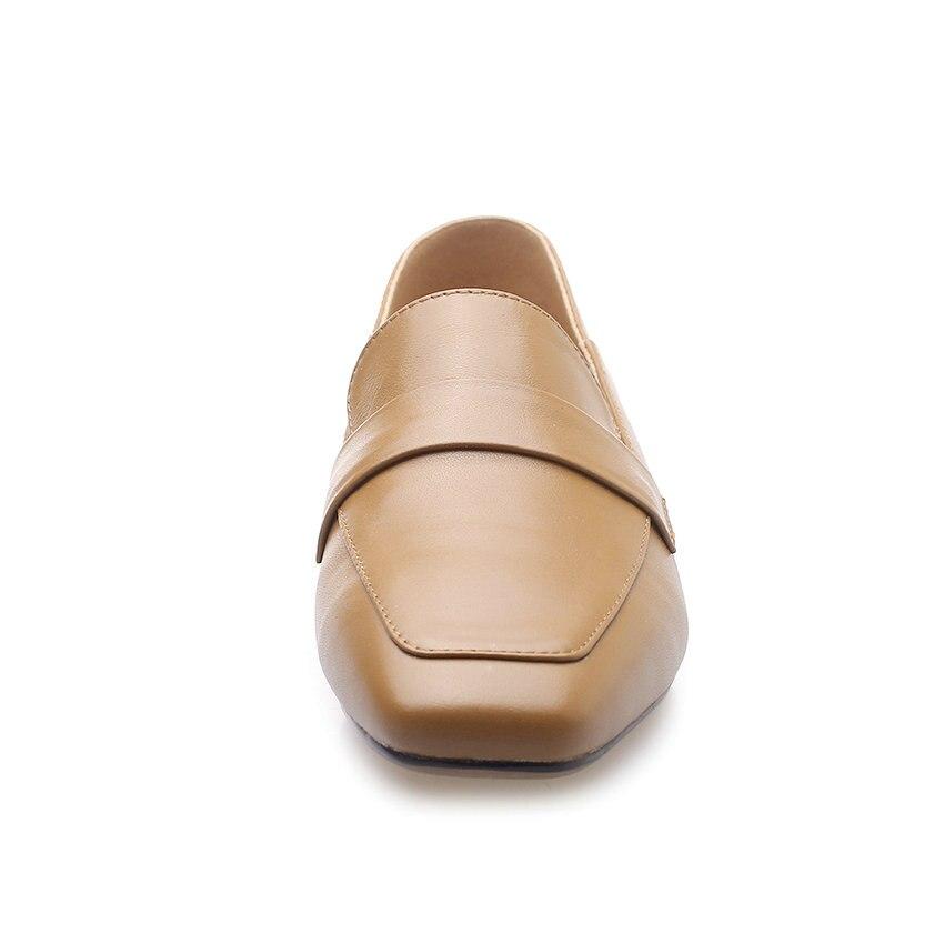 QUTAA 2019 nowa skóra bydlęca + pu kobiety pompy moda damskie buty platformy zasznurować na co dzień kwadratowe szpilki kobiety pompy rozmiar 34 43 w Buty damskie na słupku od Buty na  Grupa 3