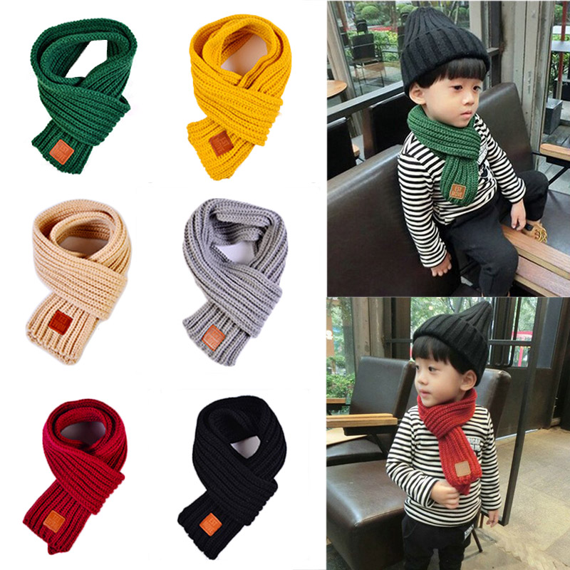 2018 Winter Kids Warm Baby Boys Girls Solid Soft Scarf Collar Children Stretch Neck