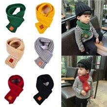 Мода г.; зимние детские шарфы; теплый шарф для маленьких мальчиков и девочек; Однотонный мягкий шарф с воротником; детское растягивающееся кольцо на шею