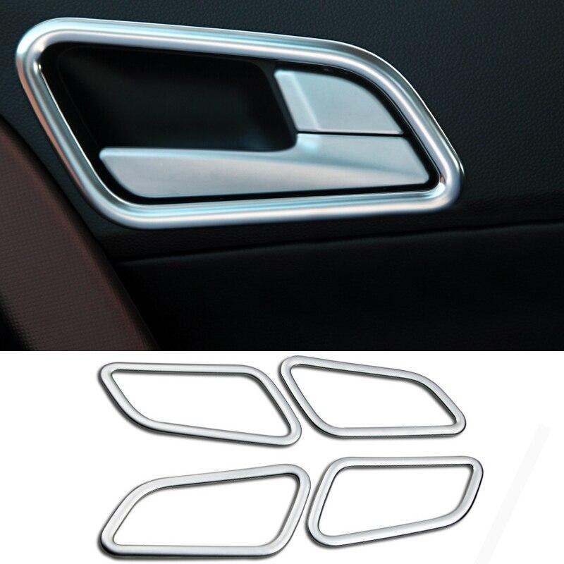 2016 стайлинга автомобилей 4 шт./комплект АБС автомобиль дверь Внутренняя ручка блестки интерьер хромированной отделкой крышки для Hyundai IX25 2014 -2016