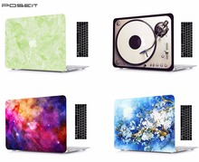 Marble Laptop Protective Hard Shell Case Keyboard Cover Skin Set For 11 12 13 15Apple Macbook Air Pro Retina Touch Bar DLS high qualtiy crystal clear hard protective shell skin case cover for nintendo 3ds xl ll new