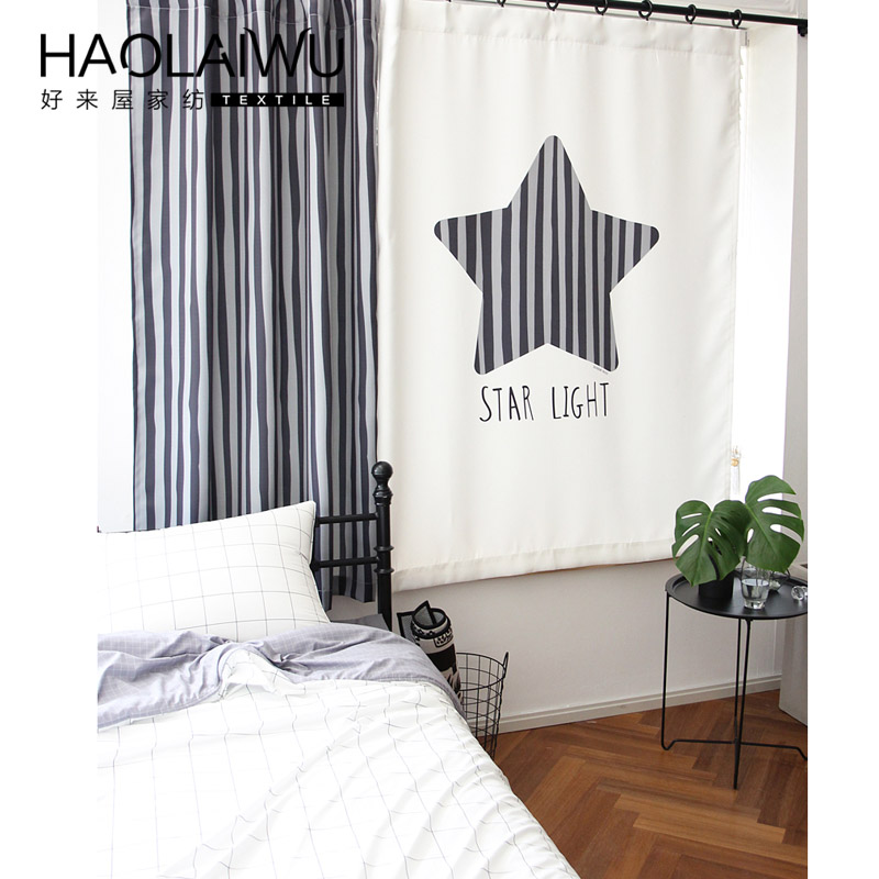 Window Curtain Living Room Children Cartoon 3D star print Curtains Sheer Modern grommet Curtain Bedroom <font><b>Kids</b></font> Cortina Para Sala