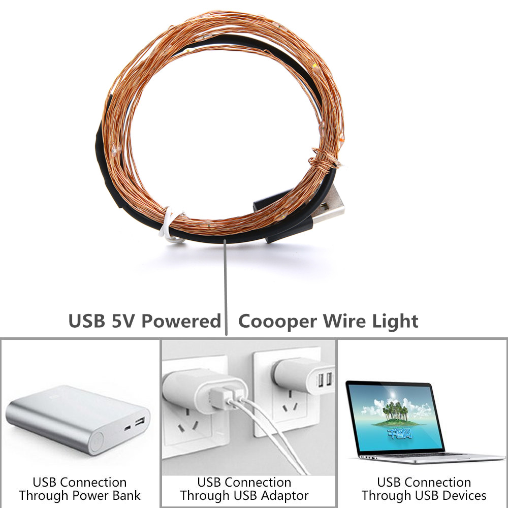 2M 5M10M Strip Light Led String Light Cooper Wire 3AA battery Christmas Light For Garland Holiday Fairy Wedding Party Decoration