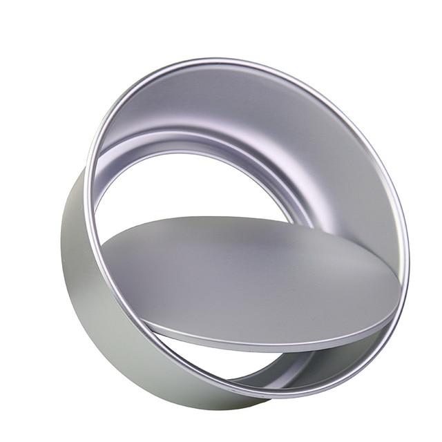 1 pc Rotonda Della Lega di Alluminio 2/4/5/6/8/10 Cake Stampi Con Rimovibile fon