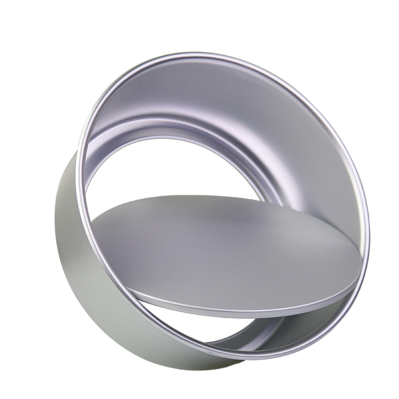 1pc Round Aluminum Alloy 2/4/5/6/8/10 Cake Moulds With Removable Bottom Anode Surface Baking Dish Cake Decoration Mould