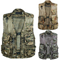 Summer New Arrival Male Camouflage V-Neck Vest Multi-pocket Vest Male Casual Tooling Vests