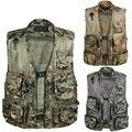 Summer New Arrival Male Camouflage V-Neck Vest Multi-pocket Vest Male Casual Tooling Vests