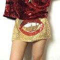 2016 Новая мода мини сексуальная золото блесток шорты skort клуб дискотека шорты женщины клубные хип-хоп танец короткие femme