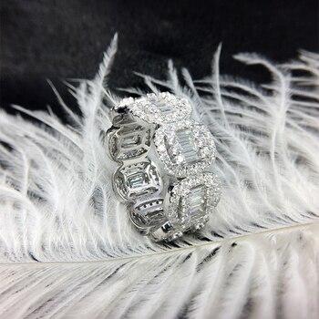 Solid 18K White Gold Full Eternity Wedding Band  3