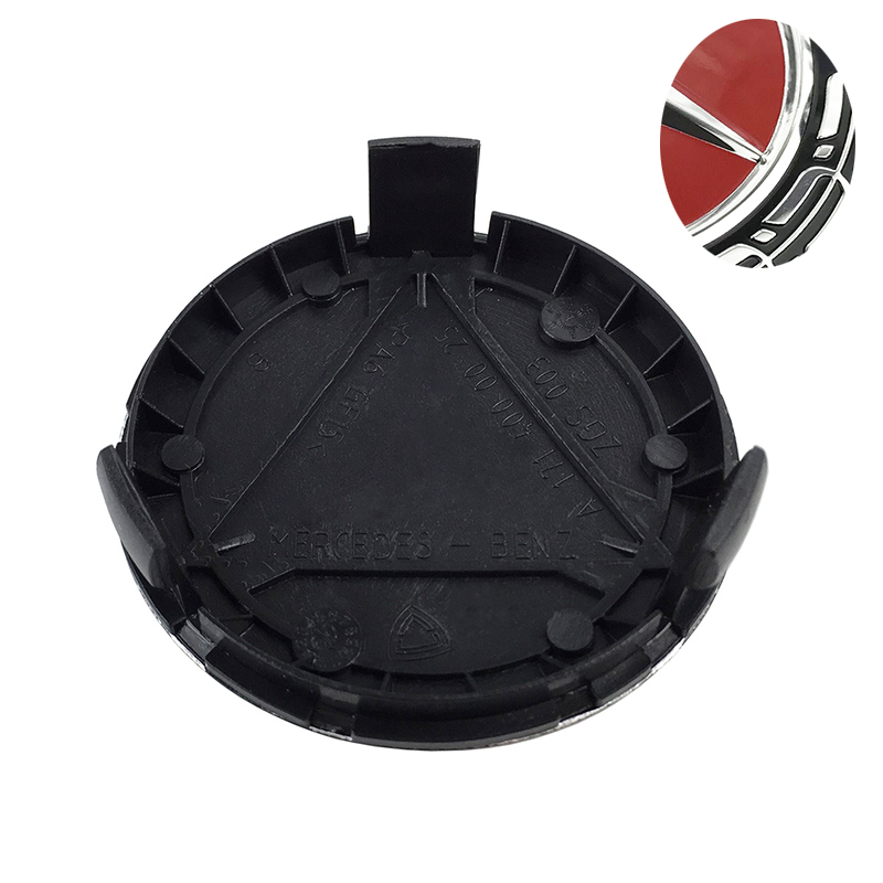 цена на 20pcs 75mm Black Wheel Center Caps Wheel Hub Rim Cap Cover Badge Emblem for Mercedes for G M R S car accessories