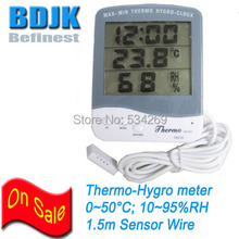 Promo offer 3 In 1 Indoor Digital Thermometer & Hygrometer with Clock 1.5m Wire Free Shipping
