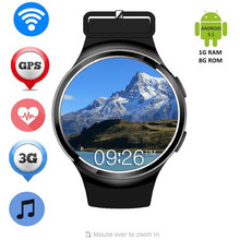 2016 Best X3 Plus K9 Bluetooth Smart Watch Android 5.1 MTK6580 Quad Core 1GB+8GB Heart Rate Smartwatch Clock For iOS Android