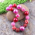 Little Girls Chunky Bubblegum Necklace 3PCS /lot Fashion Baby Jewellery Charms Kids Pink Bubblegum Necklaces