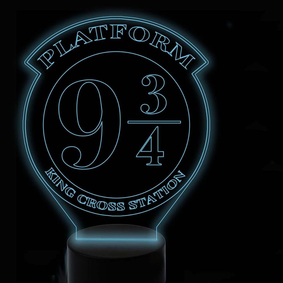 3D Visual 7 Colorful Creative Movie Table Lamp Led Night Light Usb Home Decor Lighting Fixture Kids Bedroom Sleep Lighting Gifts