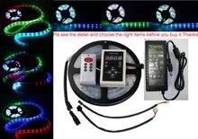 DC12V 5M 10m Digital RGB 133 Dream color 6803 IC waterproof LED Strip 5050 + RF remote controller + 12V power supply LED RGB kit