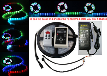 DC12V 5M 10m Digital RGB 133 Dream color 6803 IC waterproof LED Strip 5050 + RF remote controller + 12V power supply LED RGB kit 5m 6803 led rgb strip 150led 5050 ic model digital ip67 dream magic color tube waterproof 12v led strip rf6803 controller