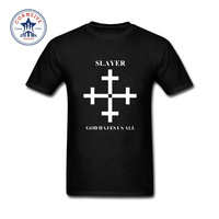2017 Fashion New Gift Tee Slayer Printed God Hates Us All Metal Rock Band Funny T