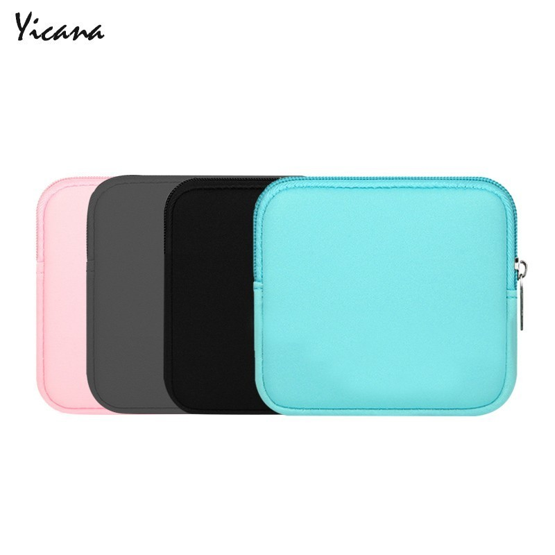 Laptop Sleeve Charger Power Storage Bag Headphone Cable Storage Bag HDD Hard Disk Drive For Macbook Power Mouse Shockproof Pouch