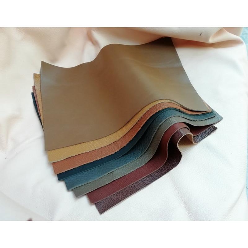 Genuine leather purse making cowhide skin Handmade DIY fabric soft thick 20x30 cm 10 pcs/lot