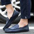 2016 Autumn New Roma Style Men's Leather Shoes Round Toe Men Slip On Shoes Fashion Soft Leather Casual Shoes SMYDC-E0008