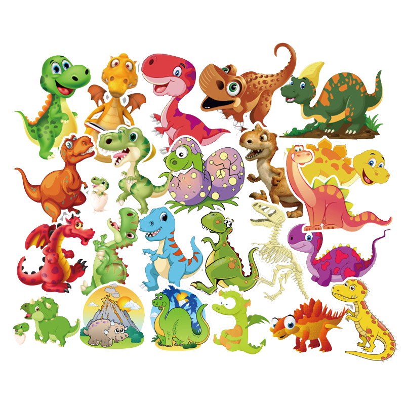 50Pcs Sticker Child Cartoon Anime Dinosaur Series Stickers For Notebook PC Skateboard Bicycle Car Moto DIY Waterproof Toy Gift