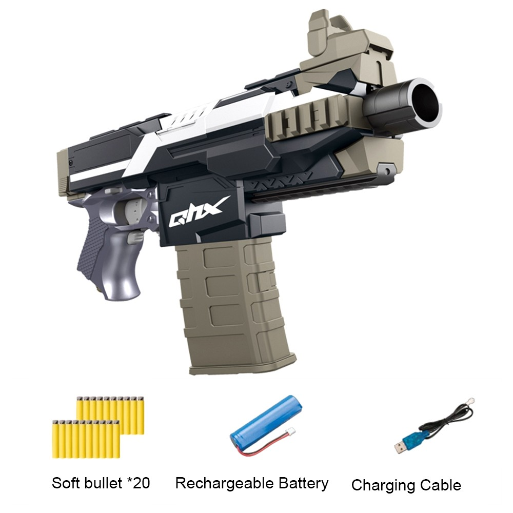 Kids Soft Bullet High Speed Electric Toy Gun With 20pcs