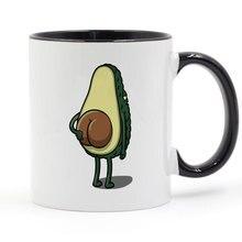 Кружка для кофе с авокадо и ягодицами, керамическая чашка, цветная ручка, цвет внутри, подарки, 11 унций, T1586